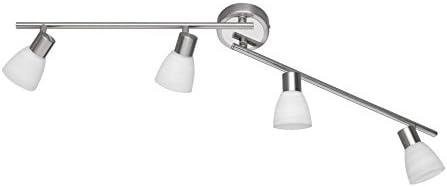 Trio Leuchten LED-Schiene Carico, nickel matt / chrom, Glas weiß gewischt 871510407