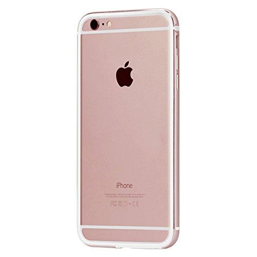 【日本正規代理店品】TUNEWEAR FRAME x FRAME SHOCKMOUNT for iPhone 6s Plus/6 Plus (二重構造バンパーケース) ローズゴールド/ホワイト TUN-PH-000430