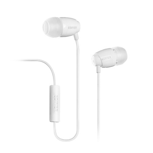 Edifier Hi-Fi In-Ear 3.5Mm Stereo Headphone With Mic And Remote For Apple Iphone Samsung Htc Nokia And Most Cell Phone Models (H210P White)