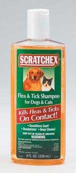 Scratchex Flea & Tick Shampoo for Dogs & Cats, 8 oz