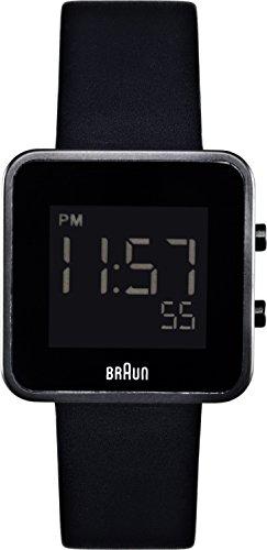 Braun Ladies Digital Display Watch BN0046BKBKL With Black Leather Strap