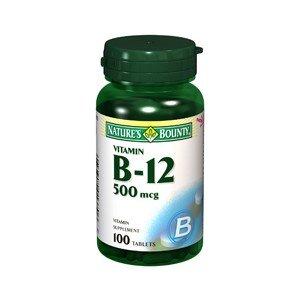 Natures Bounty Vitamin B-12 500Mcg 1370 100Tablets