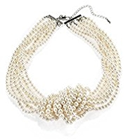 M&S Collection Pearl Effect Knot Collar Necklace