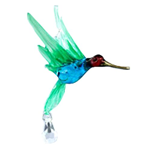 Hummingbird with Crystal Bead Glass Figurines