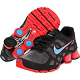 Nike Shox Turbo+ 12 Womens Running Shoes [454165-046] Cool Grey/Blue Glow-Black-Solar Red Womens Shoes 454165-046-7.5