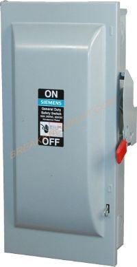 DTNF363R Outdoor Double Throw Non-Fusible Safety Switch 100A 600V by Siemens