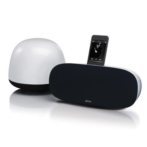 Gear4, Inc. PG448US SoundOrb Aurora Soundbar And Sub-Woofer (Black/White)