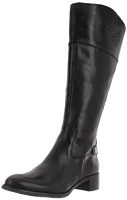 Etienne Aigner Women's Chip Wide Riding Boot,Black,5.5 M US