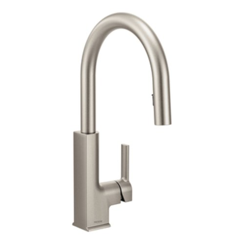 Moen S72308SRS STO One-Handle High Arc Pulldown Kitchen Faucet, Spot Resist Stainless