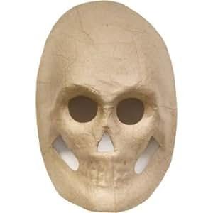Amazon.com: Paper Mache Skull Mask - 8.5 inches