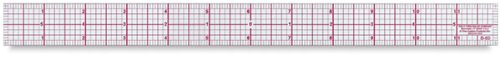 C-Thru 8ths Graph Beveled Transparent Rulers 2 in. x 18 in. metal edge