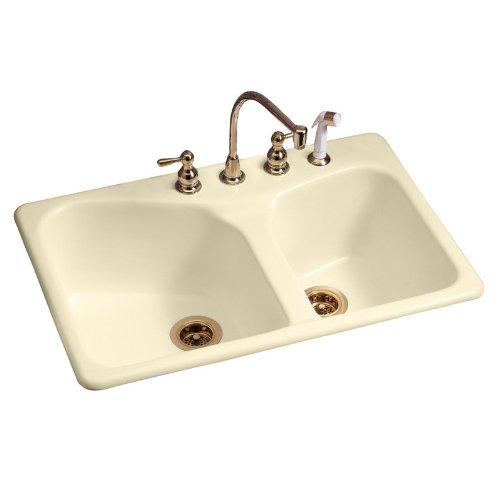 American Standard 7045.804.345 Cast Iron Double Bowl Kitchen Sink