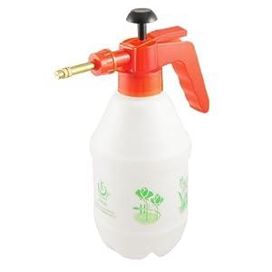 Plastic Press Handle Spray Bottle Flowers Water Sprayer Red White