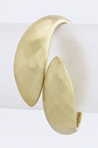 Contempo Couture Textured Surface Cuff (Matted Gold)
