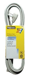 FELLOWES INC, FELL 99595 HeavyDuty Ext Cord Indoor Gr 9ft (Catalog Category: Extension Cords)