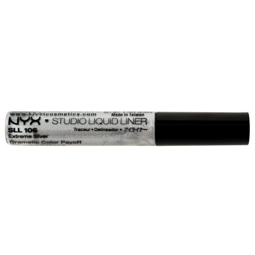 Nyx Studio Liquid Liner, Extreme Silver, 0.19 Ounce (Pack of 3)