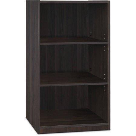 Furinno Jaya Simple Home 3-Shelf Bookcase - Espresso