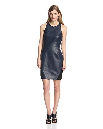 A.B.S. by Allen Schwartz Women's Faux Leather Combo Dress