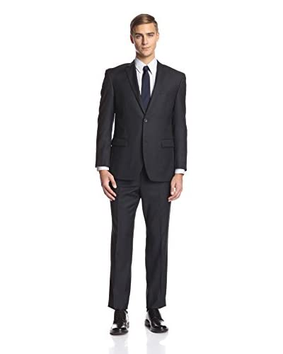Andrew Marc Men's 2 Button Stripe Suit