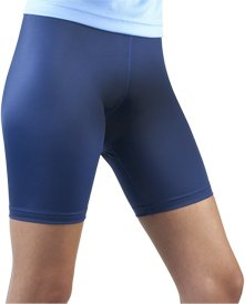 Women's Spandex Exercise Compression Workout Shorts Navy Blue X-Large