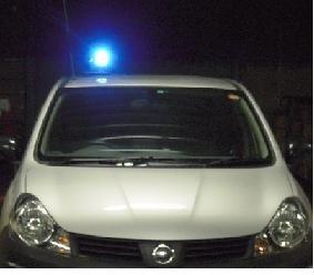 LED車両用着脱回転灯 青色  12V/24V 兼用