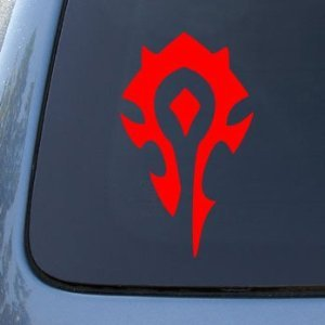 WORLD OF WARCRAFT HORDE PVP - WOW - Vinyl Car Decal Sticker #1902   Vinyl Color: Red