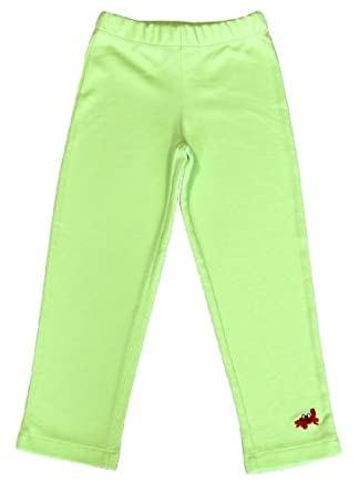 Green Nippers Baby Girl's Organic Cotton Leggings Pastel Green 6 - 12 Months