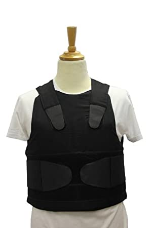 VIP Concealable Vest Chest protector body armor vest color black size M-XL By Best Security Gear (Black, XL)