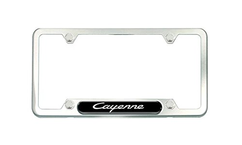 Cayenne Brushed Stainless Steel License plate frame (Cayenne License Plate Frame compare prices)