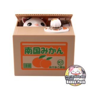 1 X Money Bank /Coins Bank /Saving Box /Piggy Bank (Stealing Steal Money Cat Gift/2012 New Bonus Pack) - 1