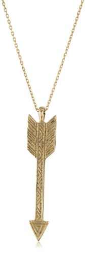 House of Harlow 1960 14k Yellow Gold-Plated Arrow Drop Necklace