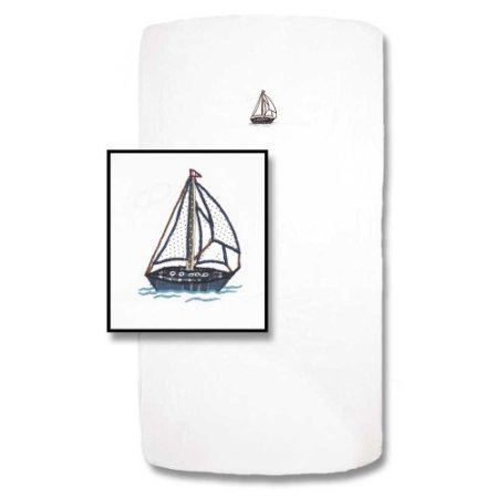 Patch Magic 30-Inch By 50-Inch Nautical Sheet Set Crib front-787744