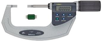 Mitutoyo LCD Blade Micrometer, Quickmike Type, Ratchet Stop, Inch/Metric