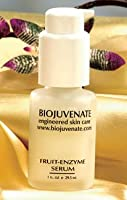 BioJuvenate Engineered Skin Care Professional Spa Quality Specialty Treatment AHA Fruit-Enzyme Serum a Most Beneficial Blend of Naturally Occurring Alpha-Hydroxy Acids: glycolic (sugar cane), malic (apple), and tartaric (tamarind fruit), with Multi-Fruit
