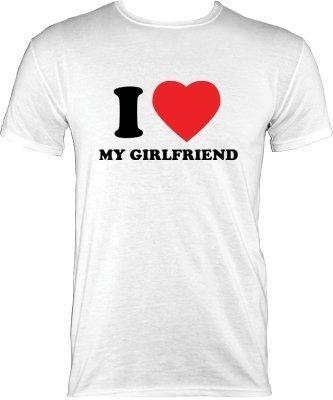 Valentines T-Shirt - I Love My Girlfriend White