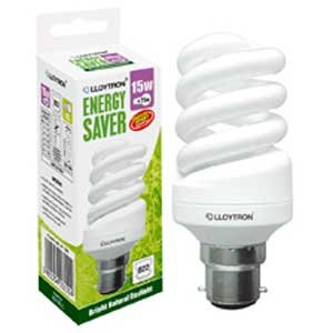 15w Bc Daylight Energy Saving Light Bulb B315blc Mini Full Spiral Tube Kitchen Home