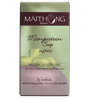 Maithong Mangosteen Soap Bar for Face and Body, Prevent Acne & Rash, Products of Thailand