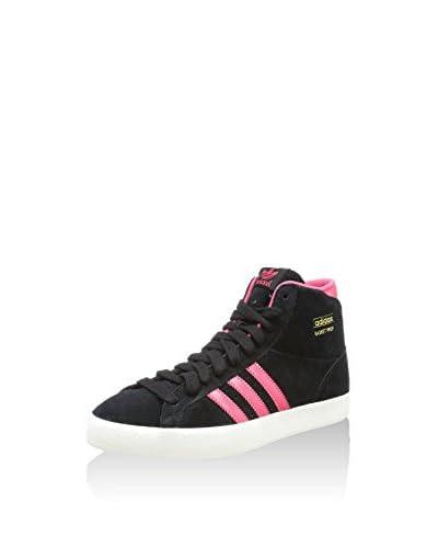 adidas Zapatillas abotinadas Basket Pro Negro / Rosa