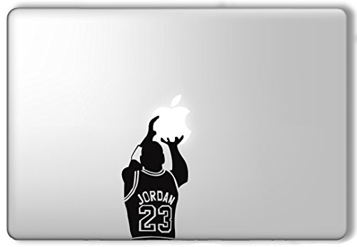 Michael Jordan Shooting Apple - Apple Macbook Laptop Vinyl Sticker Decal