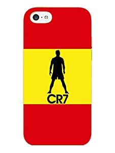 iPhone 5 5S Cover - CR7 - Red Yellow Silhouette For Ronaldo Fans - Designer Printed Hard Shell Case