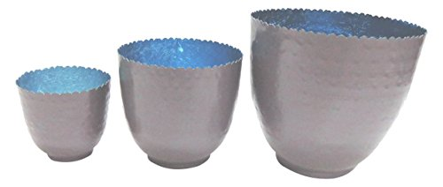 Elements Hammered Votive Candle Holders, Set Of 3