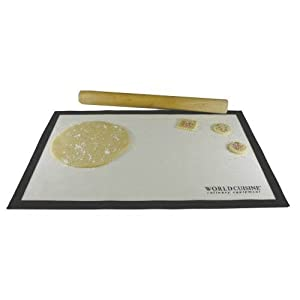World Cuisine Counter Pastry Mat from Paderno World Cuisine
