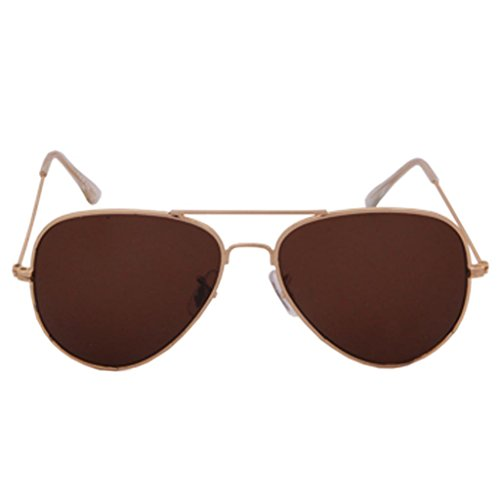 Aviator Raylite Aviator Sunglasses (Gold-Brown)(Aviator-Gold-Brown) (Multicolor)