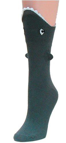 Shark Bite 3 Dimensional Trouser Socks by Foot Traffic
