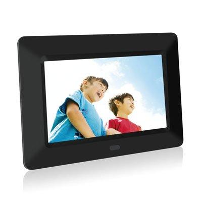 YTO-PF002 | YTO デジタルフォトフレーム 7インチTFT液晶スクリーン 写真たて 自動で写真をめくるスライドショー機能 5色の替えフレーム付き タテ・ヨコ置きOK SDカード・USBメモリ対応