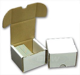 BCW 200 Count- Corrugated Cardboard Storage Box - Single Display Box - Sportscards, Gaming & Trading Cards Collecting Supplies