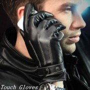 Fashion Men PU Leather Gloves Touch Screen Leather Gloves For Iphone Ipad Cycling Motorcycle Gloves