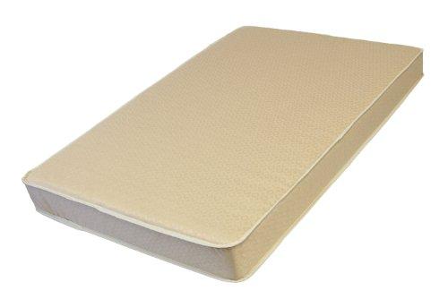 L A Baby Organic Compact Porta Crib Pad, White