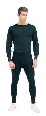 Black Thermal Underwear Bottom