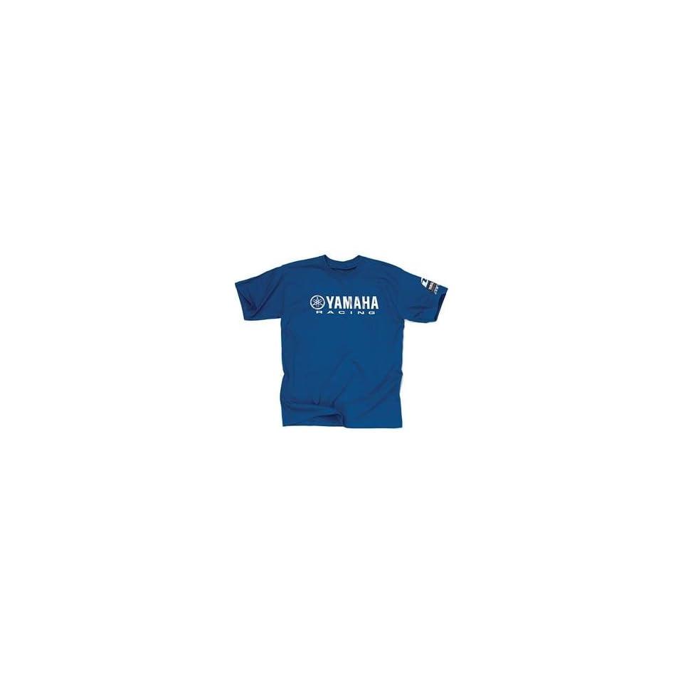 One Industries Yamaha Race T Shirt   Large/Blue